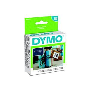 Dymo S0929120 LW Etiquetas cuadradas multiuso, negro sobre blanco, 25 x 25 mm