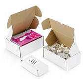 Easifold white, fast assembly postal boxes