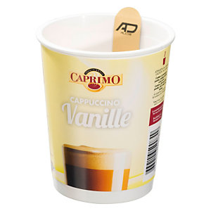 Easy CUP® Gobelets operculés pré-dosés Cappuccino saveur vanille, 20 cl