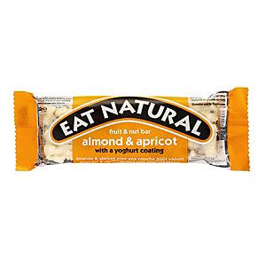 EAT NATURAL Barre enrobée aux fruits secs, amandes et abricots avec un goût yaourt - Sans gluten