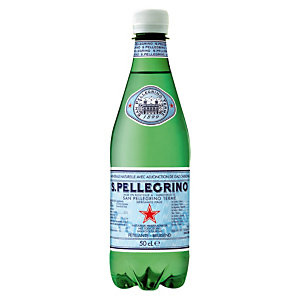 Eau gazeuse San Pellegrino, en bouteille, lot de 24 x 50 cl