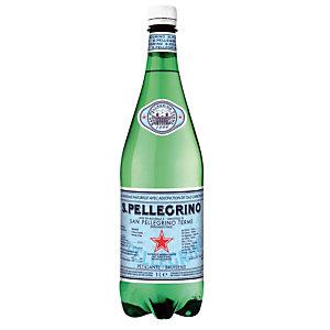 Eau gazeuse San Pellegrino, en bouteille, lot de 6 x 1 L