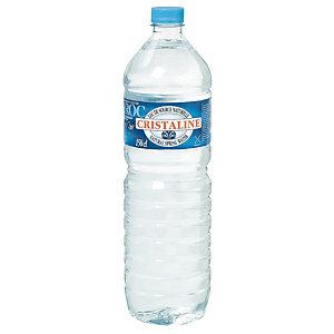 Eau plate Cristaline, en bouteille, lot de 12 x 1,5 L