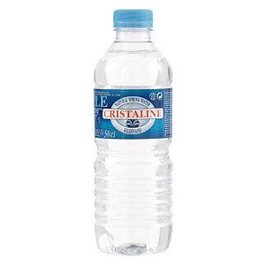 Eau plate Cristaline, en bouteille, lot de 24 x 50 cl