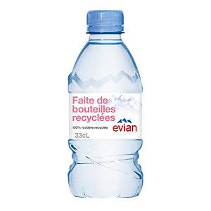 Eau plate Evian, en bouteille, lot de 24 x 33 cl