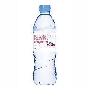 Eau plate Evian, en bouteille, lot de 24 x 50 cl