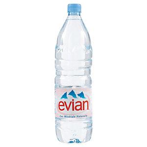 Eau plate Evian, en bouteille, lot de 6 x 1,5 L