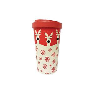 Eco tazza in fibra di bamboo Woodway Bamboo Cup, 500 ml, Fantasia Rudolfs