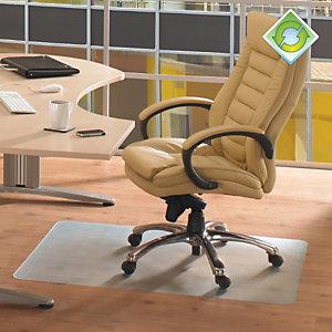 ECOTEX Ecotex® RevolutionMat Alfombrilla protectora para sillas, antideslizante, 100% PET reciclado, 1200mm x 1500mm, suelos duros, transparente