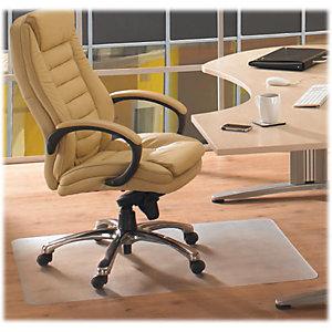ECOTEX RevolutionMat Alfombrilla protectora para sillas, antideslizante, 100% PET reciclado, 900mm x 1200mm, suelos duros, transparente