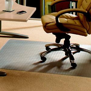 ECOTEX Tapis de sol,EvolutionMat, rectangulaire, 900mmx1200mm, polymères renforcés, 50% de matériaux recyclés, pour moquette, transparent