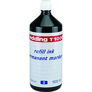 edding T-1000 Tinta de recarga para rotulador permanente, 1000 ml, azul