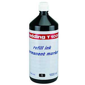 edding T-1000 Tinta de recarga para rotulador permanente, 1000 ml, negro