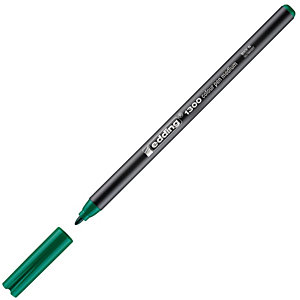 edding 1300, Rotulador de punta de fibra, punta ancha, cuerpo negro, tinta verde