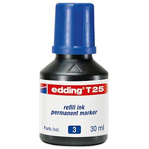 edding T-25 Refill di inchiostro per marcatori permanenti 30 ml Blu