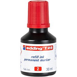 edding T-25 Refill di inchiostro per marcatori permanenti 30 ml Rosso