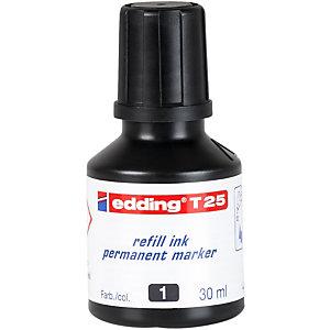 edding T-25 Tinta de recambio para rotulador permanente, 30 ml, negro