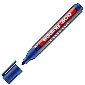 edding 300 Marcador permanente, punta ojival, 1,5-3 mm, azul