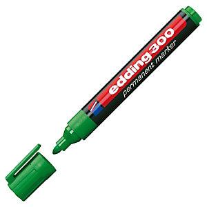 edding 300 Marcador permanente, punta ojival, 1,5-3 mm, verde