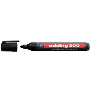 edding 300 marqueur permanent pointe ogive trait 1,5-3mm  - Noir