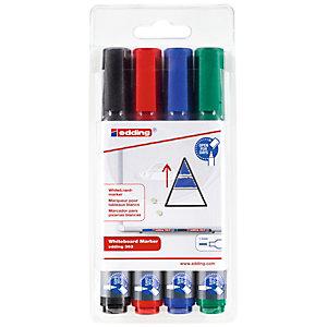 edding 363 Marcatore per lavagna Punta a scalpello 1 - 5 mm Colori assortiti Confezione da 4 pezzi