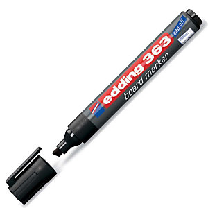 edding 363 Rotulador pizarra blanca punta biselada 1 a 5mm negro