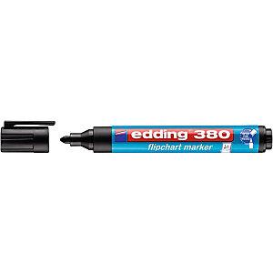 edding 380 Marcatore per lavagna a fogli mobili Punta rotonda 1,5 - 3 mm Nero (confezione 10 pezzi)