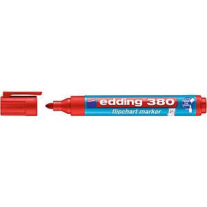 edding 380 Marqueur permanent spécial chevalet pointe ogive 1,5 - 3 mm rouge