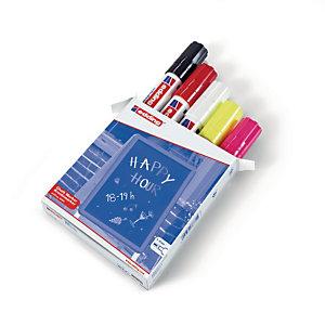 edding 4090 Marcatore non permanente, Punta a scalpello 4 - 15 mm, Colori assortiti (confezione 5 pezzi)