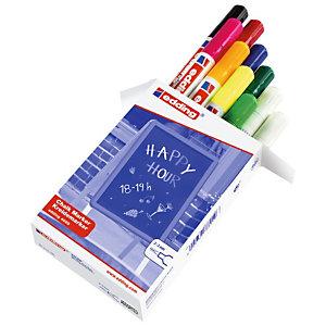 edding 4095 Rotulador de tiza, punta ojival, 2-3 mm, colores surtidos, paquete de 10