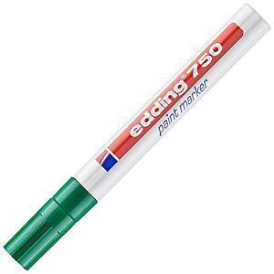 edding Marqueur à peinture 750 à pointe ogive 2-4mm vert
