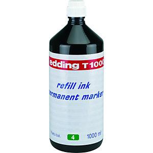 edding Tinta de recarga de rotulador permanente, 1000 ml, verde