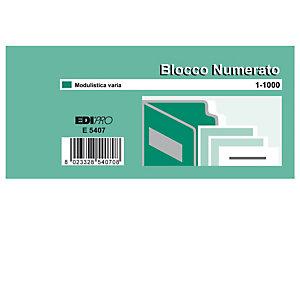 EDIPRO Blocchi numerati (1/100) - 5 colori assortiti - 6 x 13cm - Edipro