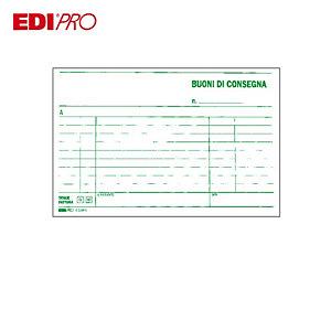 EDIPRO Blocco buoni di consegna, 9,9 x 17 cm, Carta autocopiante, Copie 33+33+33 (confezione 10 pezzi)