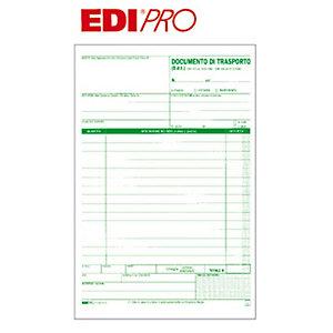 EDIPRO Blocco documento di trasporto, 14,8 x 23 cm, Carta autocopiante, Copie 50+50 (confezione 10 pezzi)