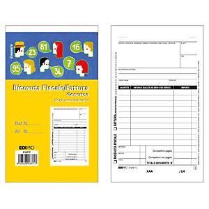 EDIPRO Blocco ricevute fiscali generiche, 17 x 9,9 cm, Carta autocopiante, Copie 50+50 (confezione 10 pezzi)