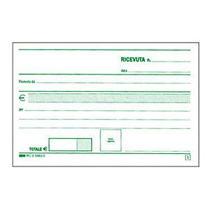 EDIPRO Blocco ricevute generiche, 17 x 9,9 cm, Carta autocopiante, Copie 50+50 (confezione 10 pezzi)