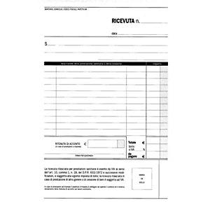 EDIPRO Blocco ricevute sanitarie - F.to 14,8 x 23 cm - Copie 50+50 (confezione 10 pezzi)