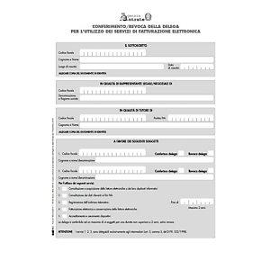 EDIPRO E0018 Modulo per il conferimento/revoca deleghe fatturazione elettronica, Formato 29,7 x 21 cm