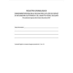 EDIPRO E2149 Registro cronologico conferimento/revoca deleghe, Formato 31 x 24,5 cm, 14 pagine numerato