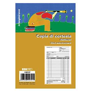 EDIPRO E5272CT Blocco copia di cortesia, Formato 22 x 14,8 cm, 33x3 autocopiante