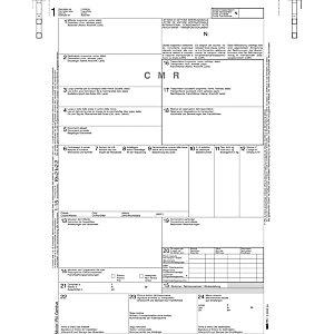 EDIPRO Lettera di vettura internazionale CMR, 12 x 24 cm, Carta autocopiante, 5 copie (confezione 100 fogli)