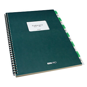 EDIPRO Libro scadenziario, A4 (21 x 29,7 cm), Carta uso mano, Copie 36 (confezione 4 pezzi)