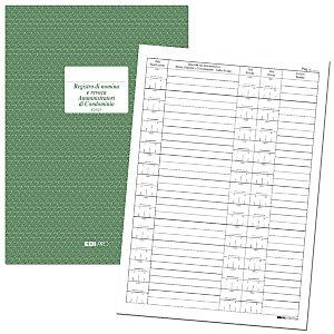 EDIPRO Registro di Nomina e Revoca Amministratori di Condominio, 16 pagine, Formato 21 x 29,7 cm (confezione 5 pezzi)
