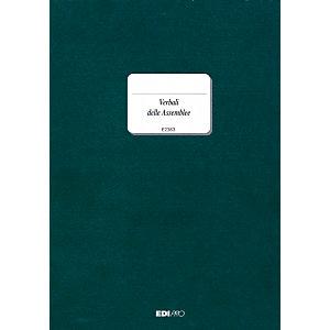 EDIPRO Registro verbali, 24,5 x 31 cm, Carta uso mano, Copie 92 (confezione 5 pezzi)