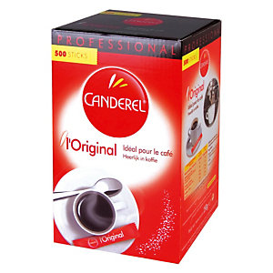 Edulcorant en poudre Canderel, boîte distributrice de 500 sticks