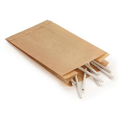 Ekonomiska papperspåsar med sidoväggar