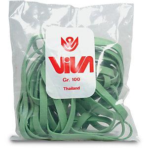 Elastici a fascetta - Gomma verde - Diam. 80 mm - 1 kg