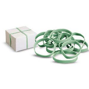Elastici a fascetta - Gomma verde - Diam. assortiti - 100 g