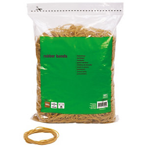 Elastici in sacchetto, Diametro 60 mm, Colore naturale, 100 g